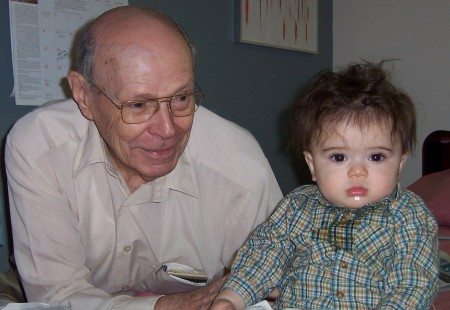 Noden and great-grandson Jacob